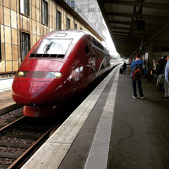 Thalys train to Paris