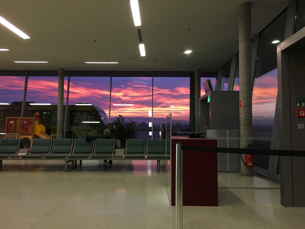Sunset as seen from Graz Airport
